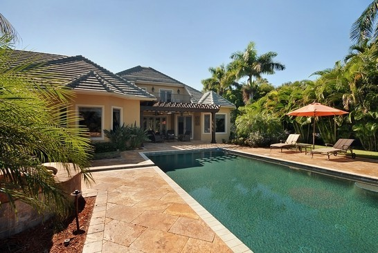 Real Estate Photography - 605 Bougainvillea Rd, Naples, FL, 34102 - Rear View