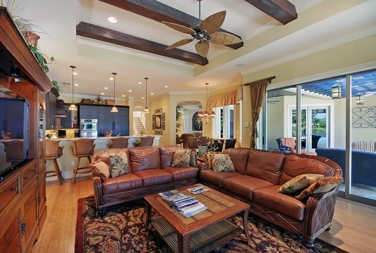 Real Estate Photography - 605 Bougainvillea Rd, Naples, FL, 34102 - Family Room / Kitchen