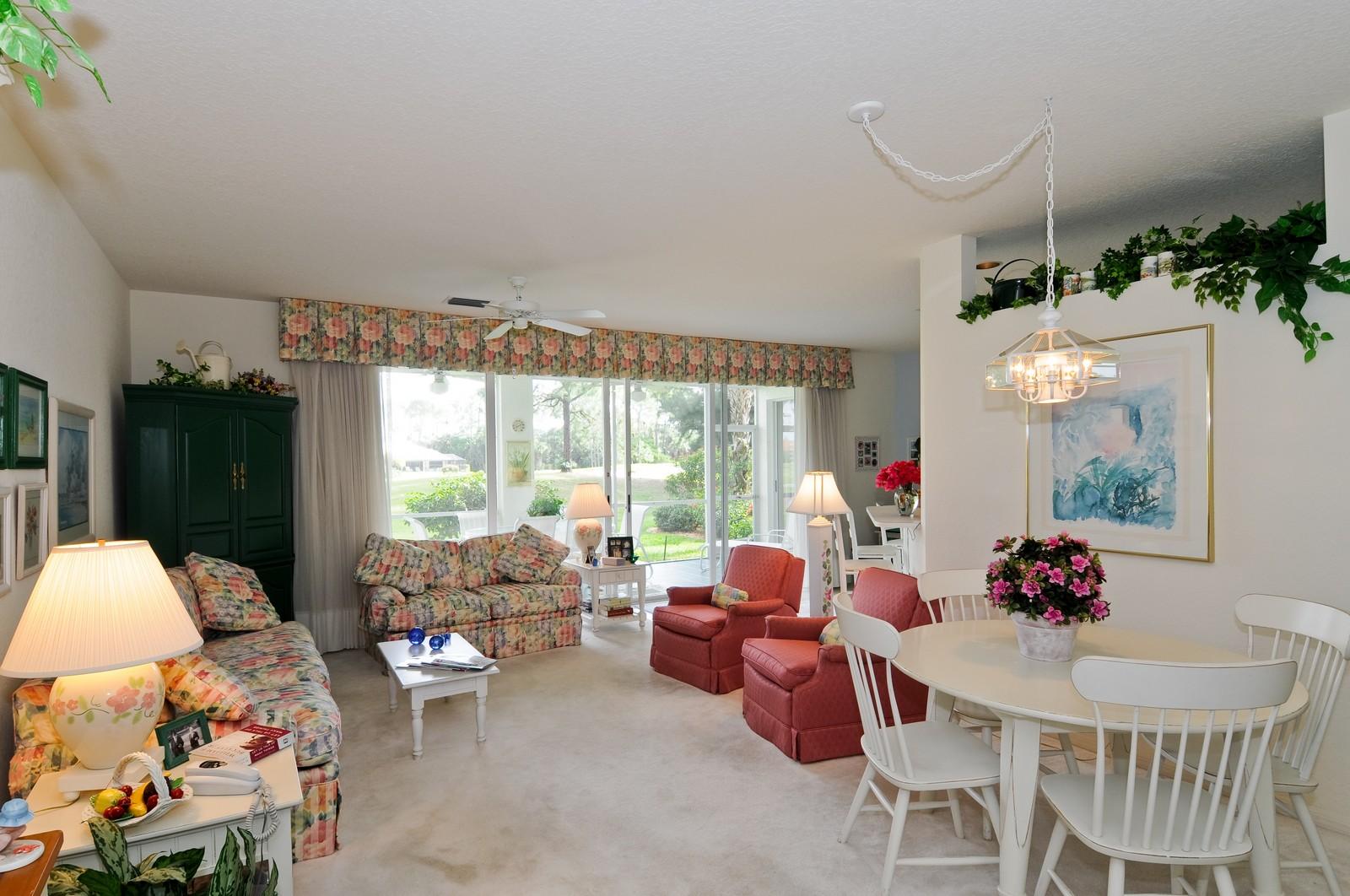 Real Estate Photography - 13060 Hamilton Harbour Dr., H-5, Naples, FL, 34110 - Living Room