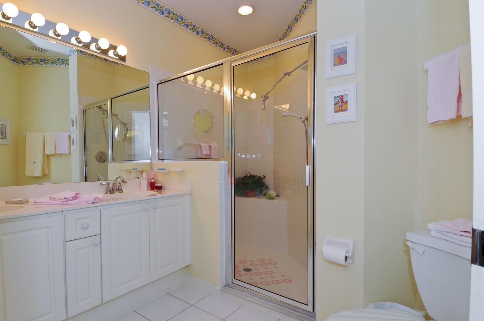 Real Estate Photography - 13060 Hamilton Harbour Dr., H-5, Naples, FL, 34110 - Master Bathroom