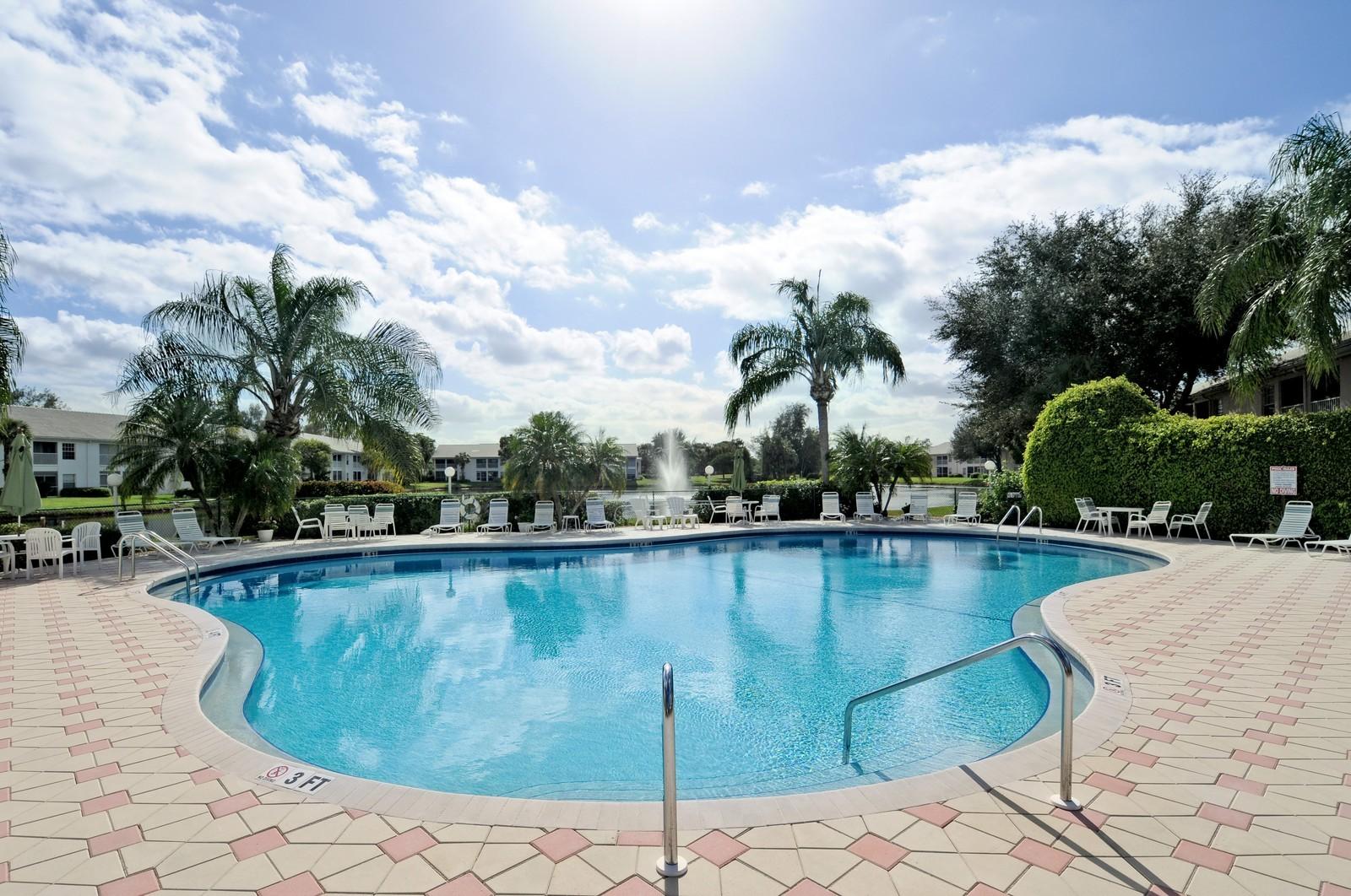 Real Estate Photography - 13060 Hamilton Harbour Dr., H-5, Naples, FL, 34110 - Pool