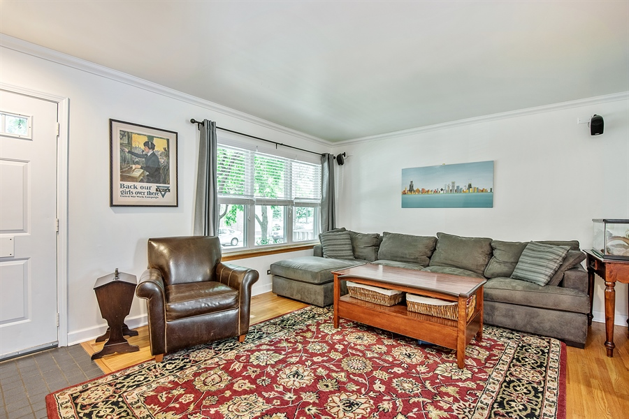 Real Estate Photography - 5404 N Hoyne, Chicago, IL, 60625 - Foyer/Living Room