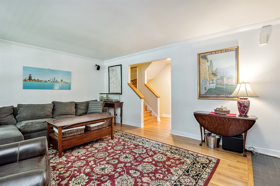 Real Estate Photography - 5404 N Hoyne, Chicago, IL, 60625 - Living Room
