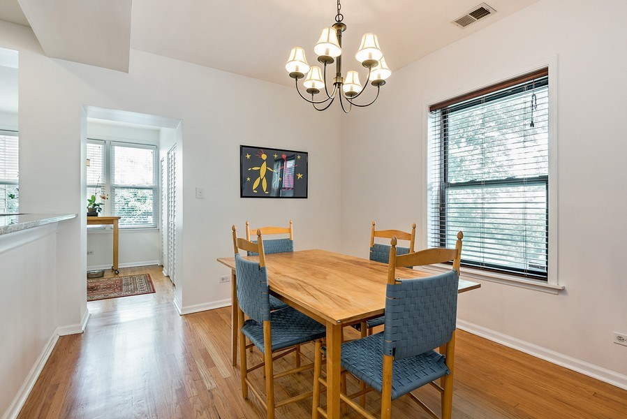 Real Estate Photography - 4822 N Winchester, 1N, Chicago, IL, 60625 - Spacious dining area