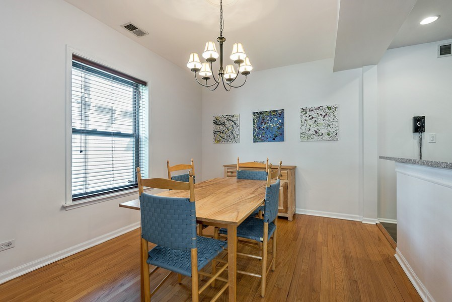 Real Estate Photography - 4822 N Winchester, 1N, Chicago, IL, 60625 - Dining Area