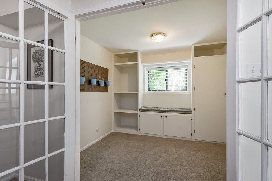 Real Estate Photography - 4822 N Winchester, 1N, Chicago, IL, 60625 - Office/ craft room with French door