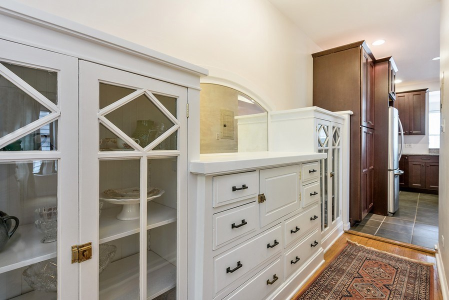 Real Estate Photography - 4822 N Winchester, 1N, Chicago, IL, 60625 - Classic built-in hutch, large pantry cabinet