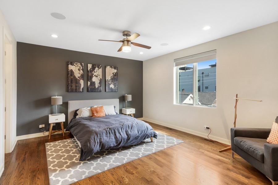 Real Estate Photography - 1113 N Ashland Ave, Unit 3, Chicago, IL, 60622 - Master Bedroom