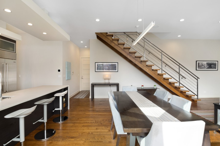 Real Estate Photography - 1113 N Ashland Ave, Unit 3, Chicago, IL, 60622 - Foyer/Dining Room