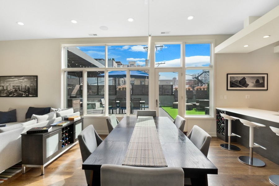 Real Estate Photography - 1113 N Ashland Ave, Unit 3, Chicago, IL, 60622 - Dining Area