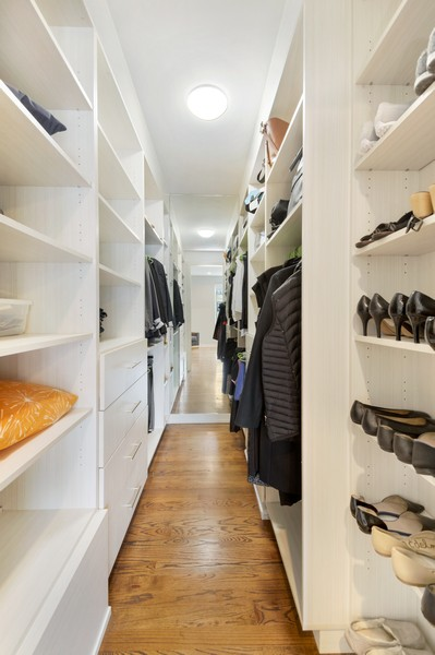 Real Estate Photography - 1113 N Ashland Ave, Unit 3, Chicago, IL, 60622 - Master Bedroom Closet