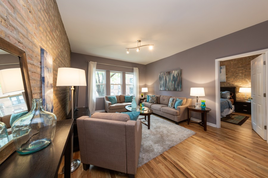Real Estate Photography - 3822 W. Altgeld #1, Chicago, IL, 60647 - Living Room