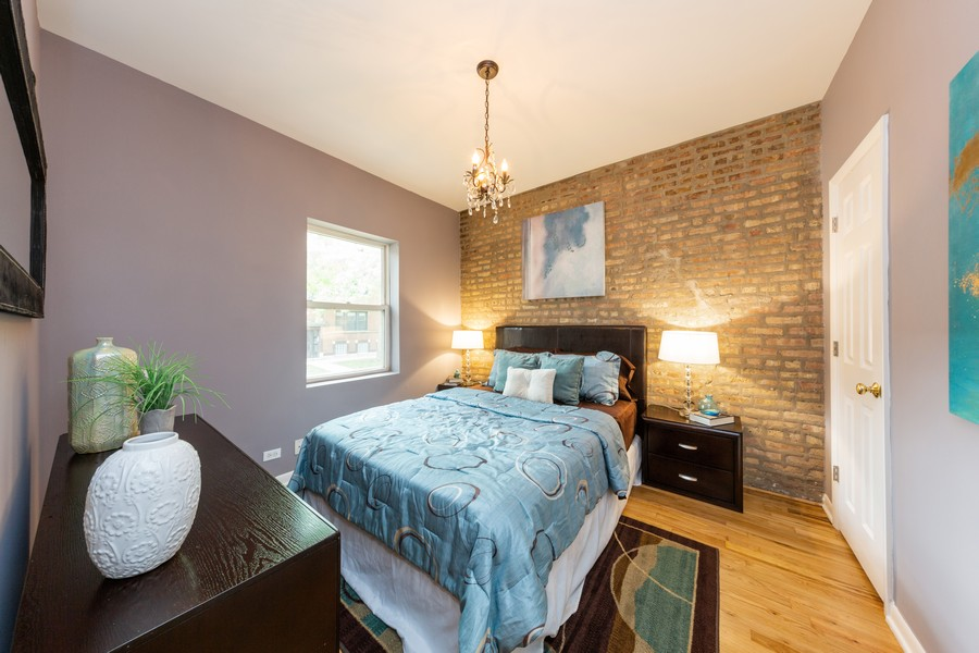 Real Estate Photography - 3822 W. Altgeld #1, Chicago, IL, 60647 - Master Bedroom