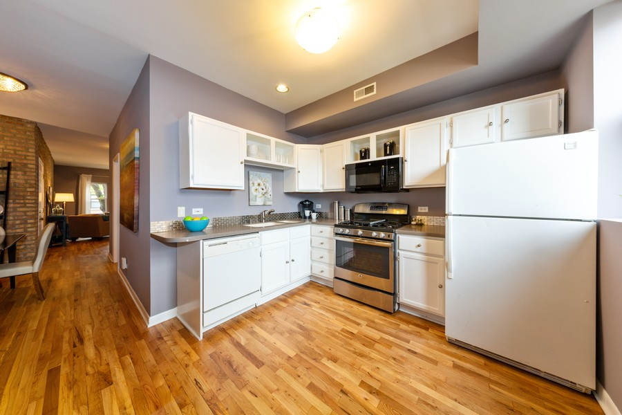 Real Estate Photography - 3822 W. Altgeld #1, Chicago, IL, 60647 - Kitchen
