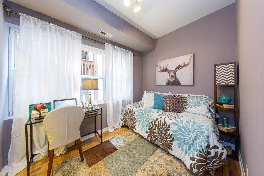 Real Estate Photography - 3822 W. Altgeld #1, Chicago, IL, 60647 - Bedroom