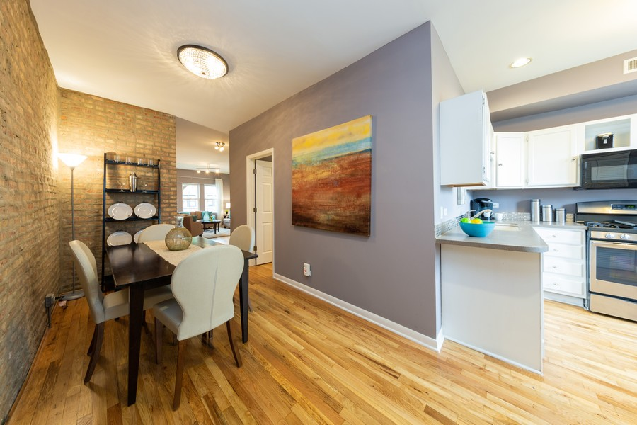 Real Estate Photography - 3822 W. Altgeld #1, Chicago, IL, 60647 - Dining Room