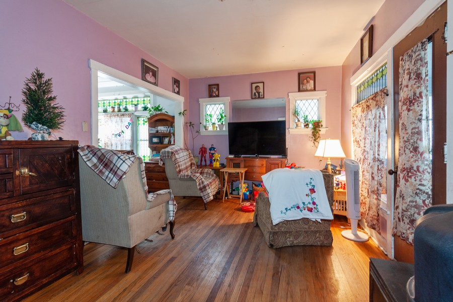 Real Estate Photography - 4718 W Belle Plaine, Chicago, IL, 60641 - Living Room