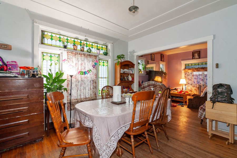 Real Estate Photography - 4718 W Belle Plaine, Chicago, IL, 60641 - Dining Room