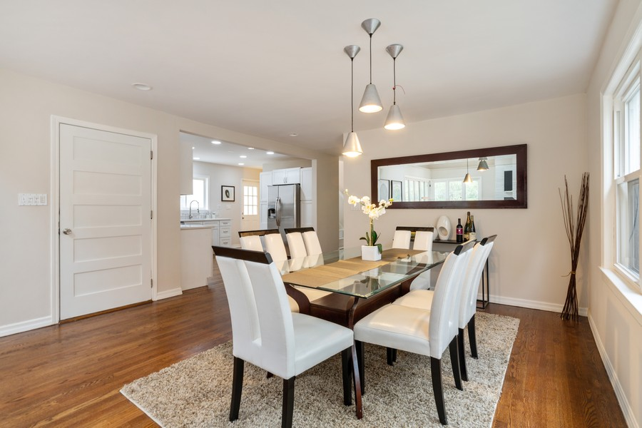 Real Estate Photography - 4408 W Bryn Mawr, Chicago, IL, 60646 - Dining Room