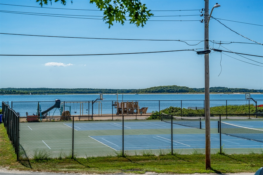 Real Estate Photography - 25 Bayview Avenue, Bourne, MA, 02532 - Tennis Court