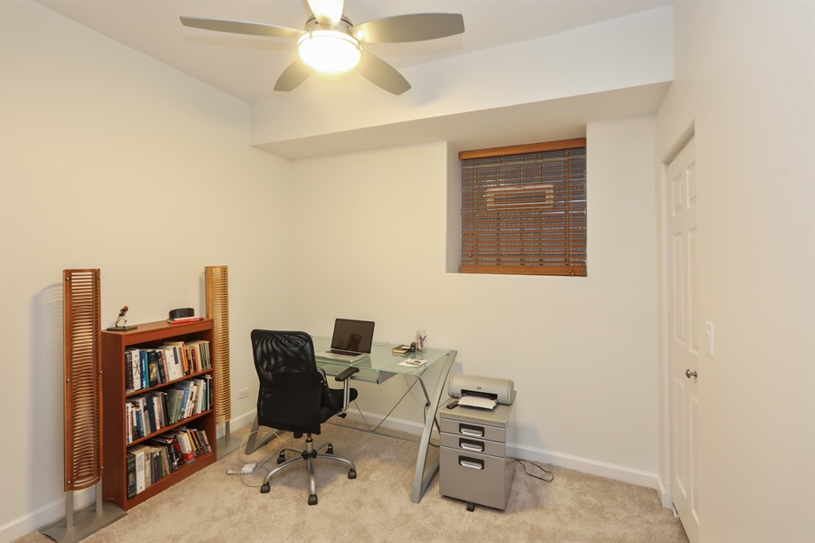 Real Estate Photography - 4744 S Forrestville, 1N, Chicago, IL, 60615 - Lower-Level 3rd Bedroom/Office
