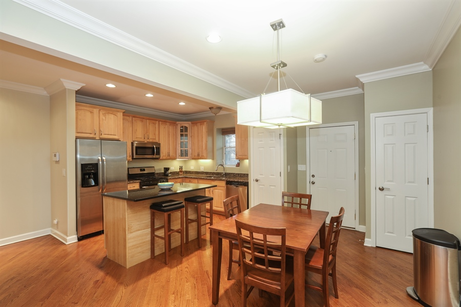 Real Estate Photography - 4744 S Forrestville, 1N, Chicago, IL, 60615 - Kitchen/Dining