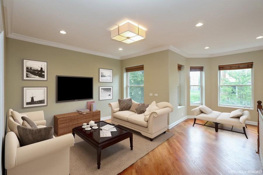 Real Estate Photography - 4744 S Forrestville, 1N, Chicago, IL, 60615 - Living Room/Sun Room