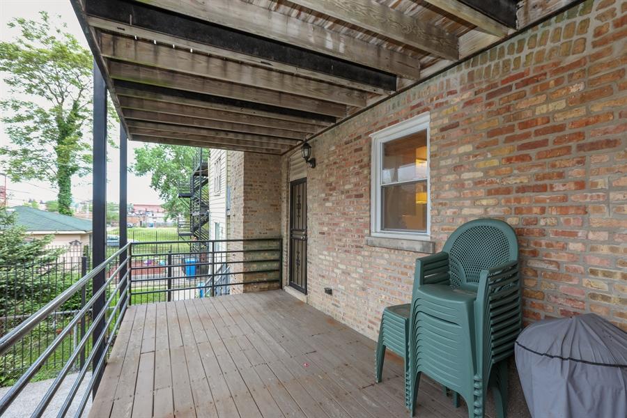 Real Estate Photography - 4744 S Forrestville, 1N, Chicago, IL, 60615 - Rear Deck