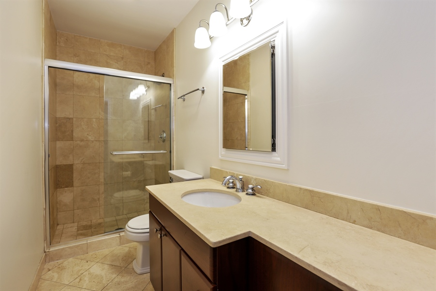 Real Estate Photography - 1428 S. Lunt Avenue, 1N, Chicago, IL, 60626 - Master Bathroom