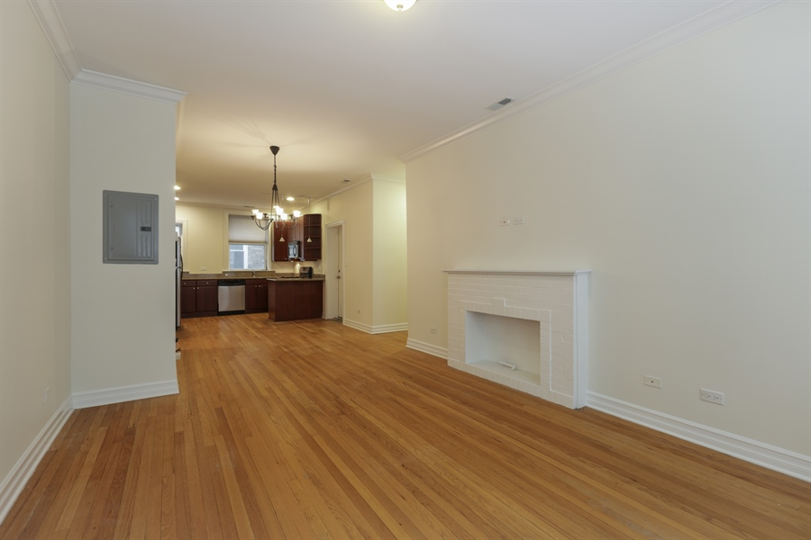 Real Estate Photography - 1428 S. Lunt Avenue, 1N, Chicago, IL, 60626 - Living Room
