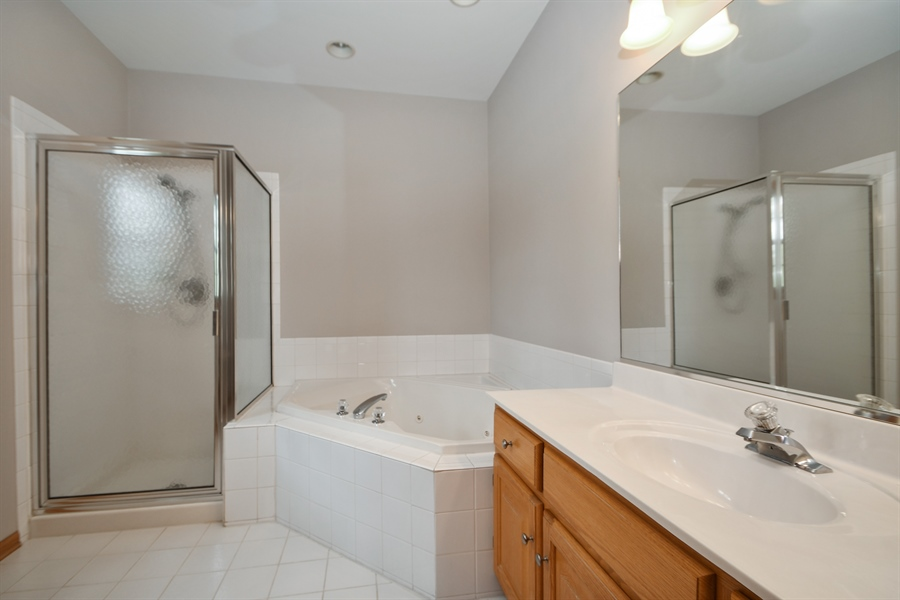 Real Estate Photography - 8702 Trinity Drive, Orland Park, IL, 60462 - Master Bathroom