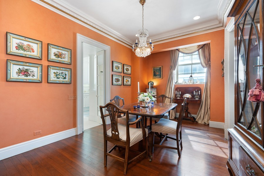 Real Estate Photography - 1260 N Astor St, Apt 11N, Chicago, IL, 60610 - Dining Room