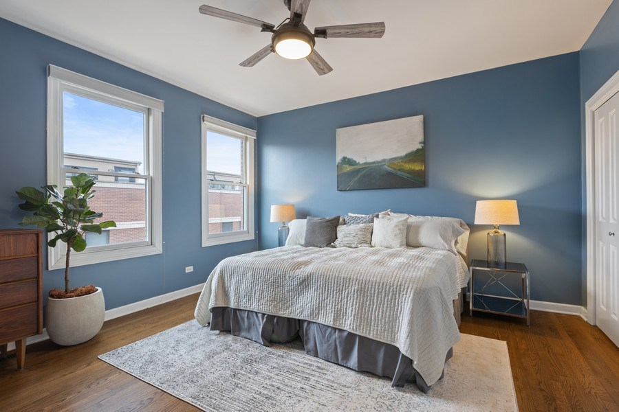 Real Estate Photography - 2036 W LeMoyne B, Chicago, IL, 60614 - Master Bedroom