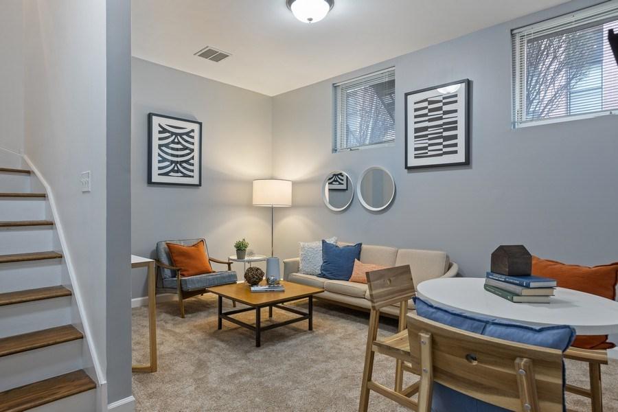 Real Estate Photography - 2036 W LeMoyne B, Chicago, IL, 60614 - Family Room