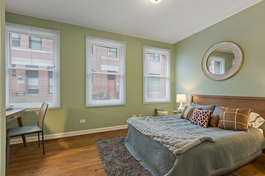 Real Estate Photography - 2036 W LeMoyne B, Chicago, IL, 60614 - Second Bedroom