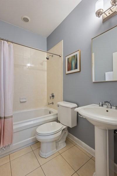 Real Estate Photography - 2036 W LeMoyne B, Chicago, IL, 60614 - Second Bathroom