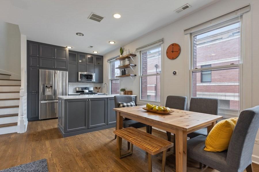 Real Estate Photography - 2036 W LeMoyne B, Chicago, IL, 60614 - Dining Room