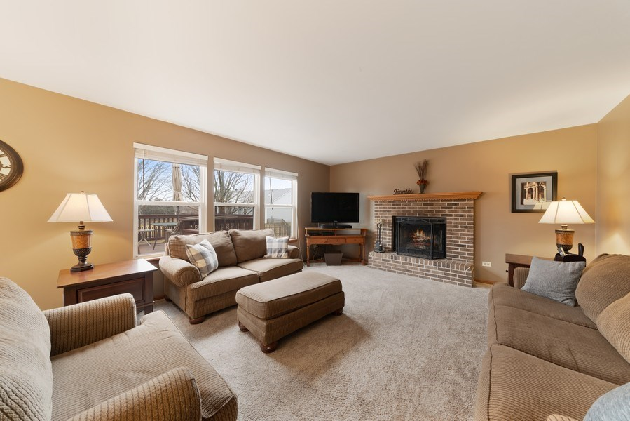 Real Estate Photography - 2003 Wedgeport Circle, Romeoville, IL, 60446 - Family Room