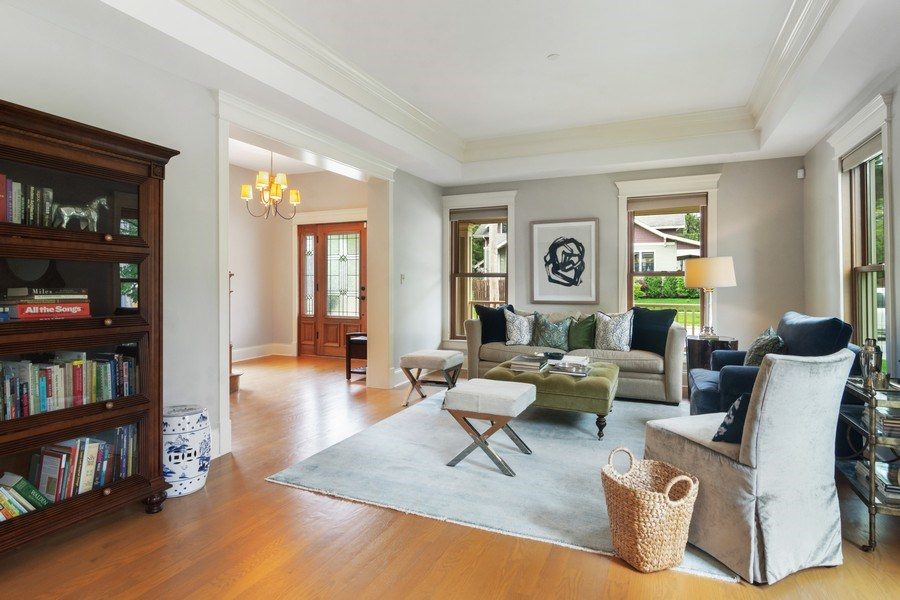 Real Estate Photography - 316 Dundee Avenue, Barrington, IL, 60010 - Living Room