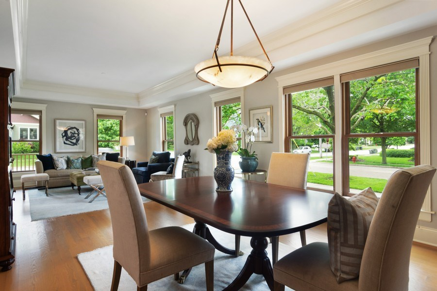 Real Estate Photography - 316 Dundee Avenue, Barrington, IL, 60010 - Living Room / Dining Room