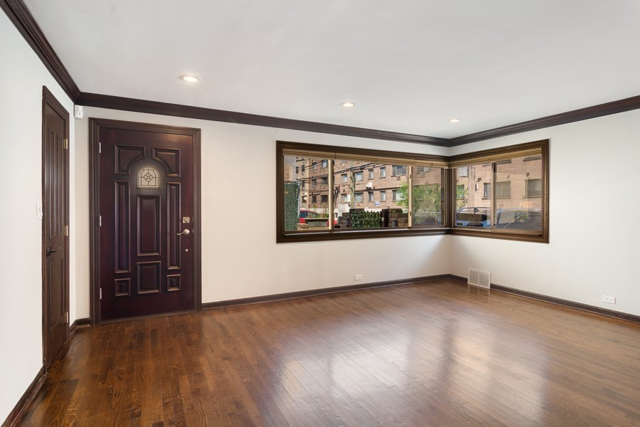 Real Estate Photography - 428 W Wellington, Unit B, Chicago, IL, 60657 - Living Room