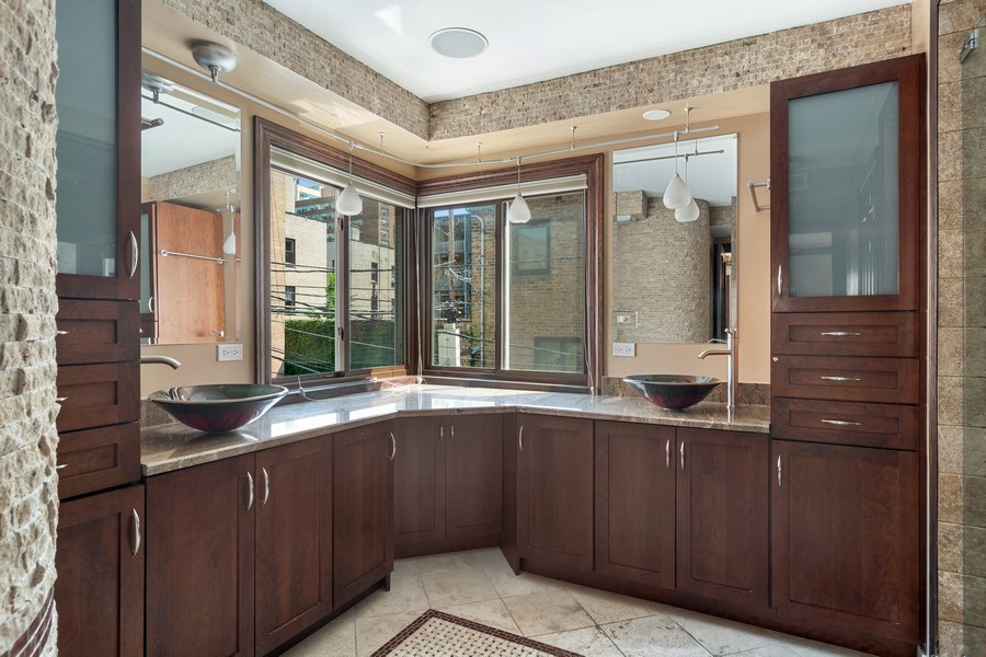 Real Estate Photography - 428 W Wellington, Unit B, Chicago, IL, 60657 - Master Bathroom