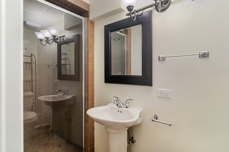 Real Estate Photography - 428 W Wellington, Unit B, Chicago, IL, 60657 - 3rd Bathroom - Lower