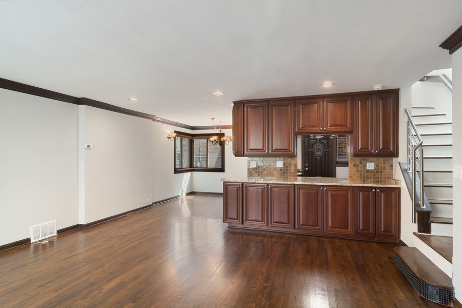Real Estate Photography - 428 W Wellington, Unit B, Chicago, IL, 60657 - Living/Kitchen/Dining
