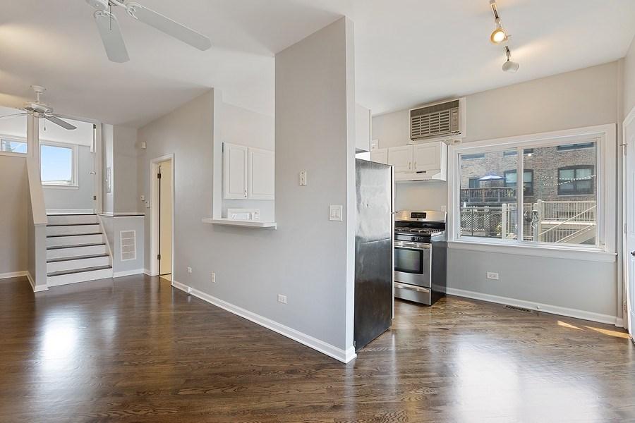 Real Estate Photography - 1913 W Armitage, Unit 2RW, Chicago, IL, 60622 - Kitchen/Living