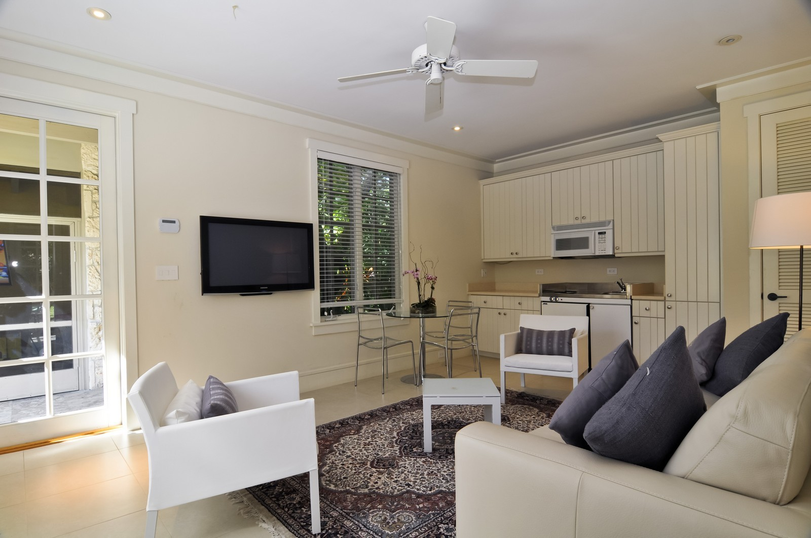 Real Estate Photography - 10225 Coral Creek Rd, Coral Gables, FL, 33156 - Guest House Living Room