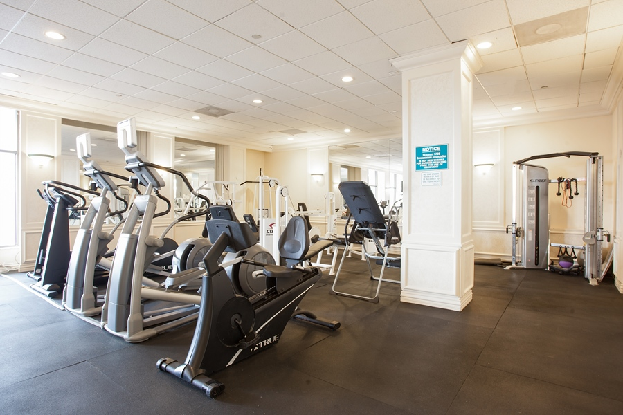 Real Estate Photography - 5700 Collins Ave, 15M, Miami Beach, FL, 33140 - Gym
