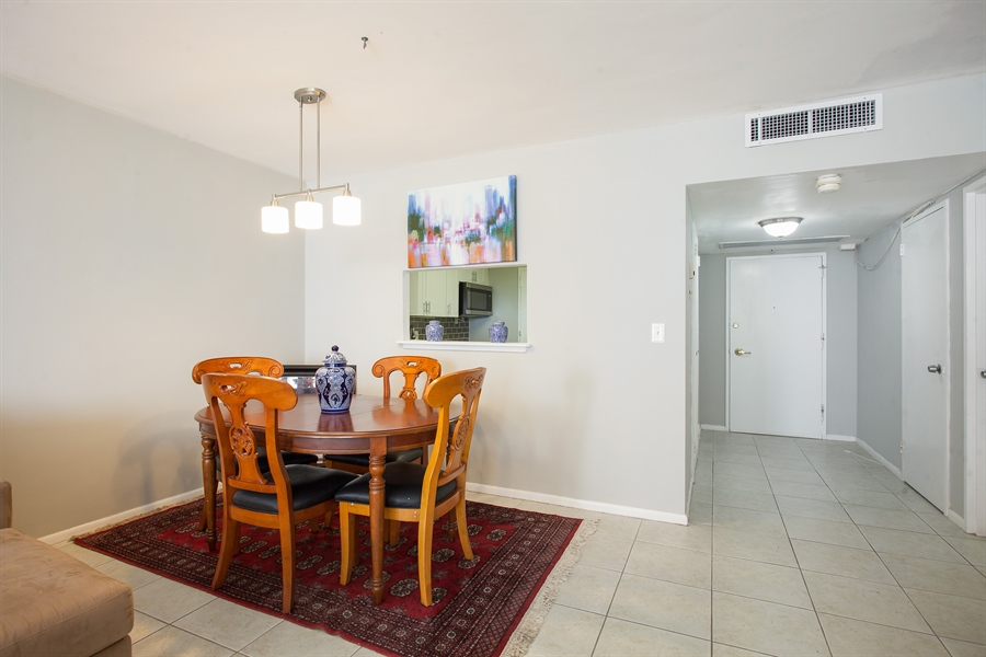 Real Estate Photography - 5700 Collins Ave, 15M, Miami Beach, FL, 33140 - Dining Room