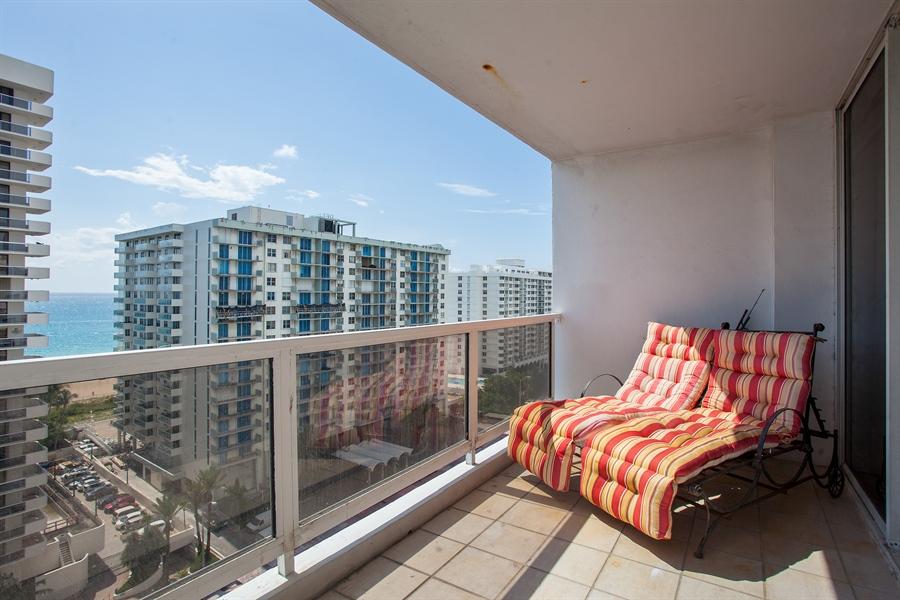 Real Estate Photography - 5700 Collins Ave, 15M, Miami Beach, FL, 33140 - Balcony