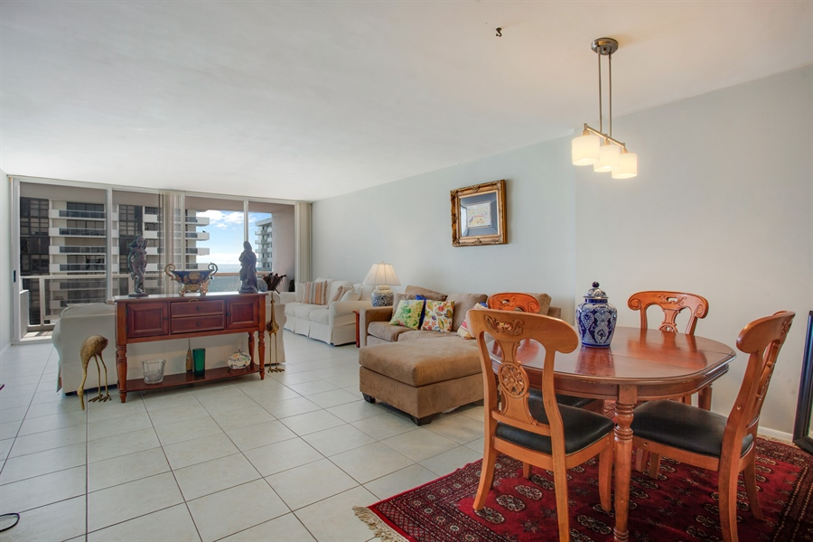 Real Estate Photography - 5700 Collins Ave, 15M, Miami Beach, FL, 33140 - Living Room / Dining Room